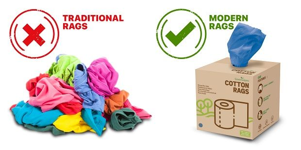 Traditional cotton rags used for cleaning may contain and transfer harmful substances, hazardous chemicals and viruses onto the surfaces they come into contact with.
