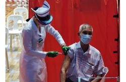 Covid-19: Centenarian among first in Sibu to receive first dose of vaccine