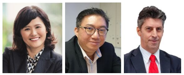 (From left) Dr Wendy Liow, Dr Tang U-Liang and Dr Paolo Casadio from HELP University 's ELM Graduate School.