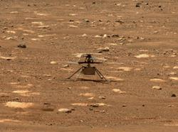Nasa's Mars helicopter succeeds in historic first flight