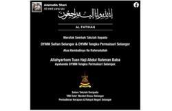 Tengku Permaisuri Selangor's father passes away