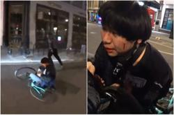 Singaporean student caught on livestream being attacked by man with knife in London