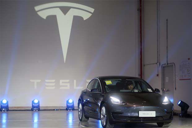 Tesla 3 electric vehicle in China - File pic