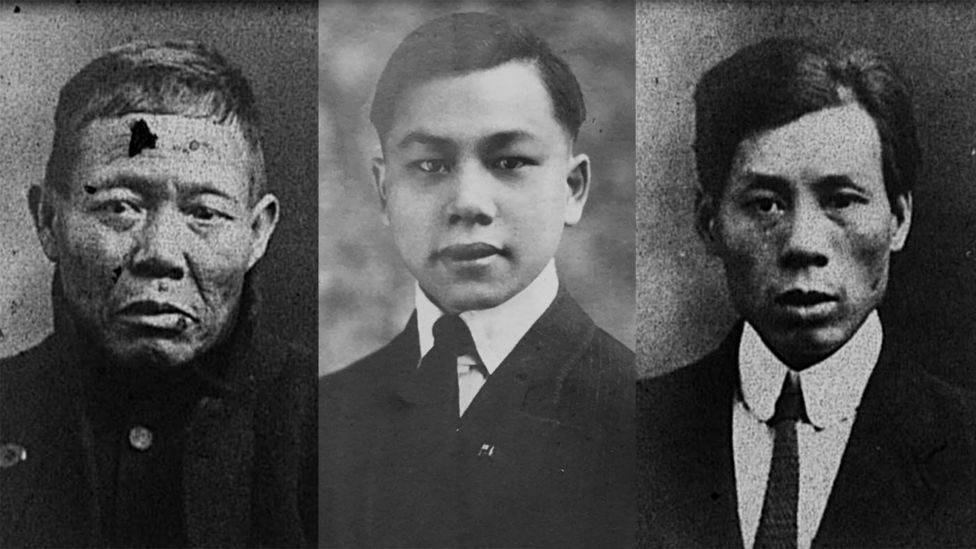 According to BBC, the men were identified as Lee Bing, Chang Chip, Chung Foo, (from left) Ah Lam, Fang Lang and Ling Hee. Photo: Handou