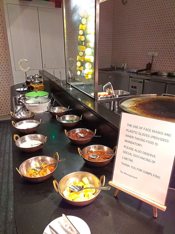 Standard operating procedures has to be adhered to at the Le Meridien Putrajaya's 'Destinasi Rasa' Ramadan buffet.