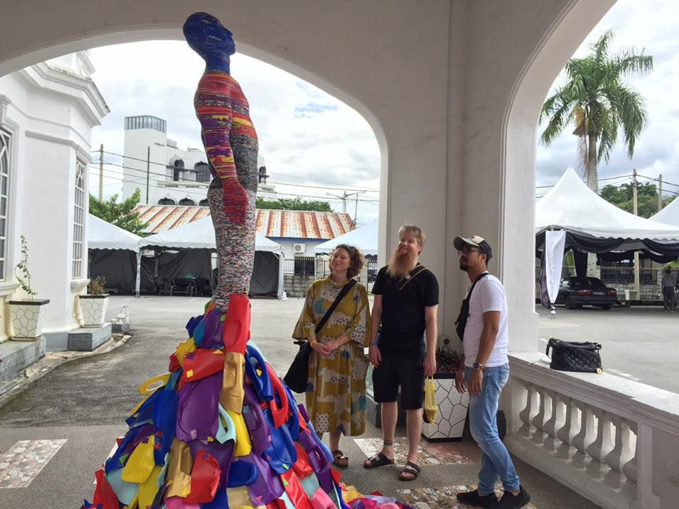 A plastic installation from Aftermath Thinker seen at the climate change-themed Ipoh International Art Festival in 2019. Photo IIAF