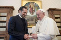 Lebanon's Hariri: pope to visit if government is formed