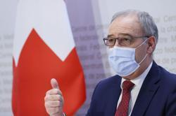Swiss president heads for damage-control EU summit