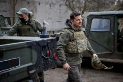 Ukraine president says Russian troop withdrawal reduces tension