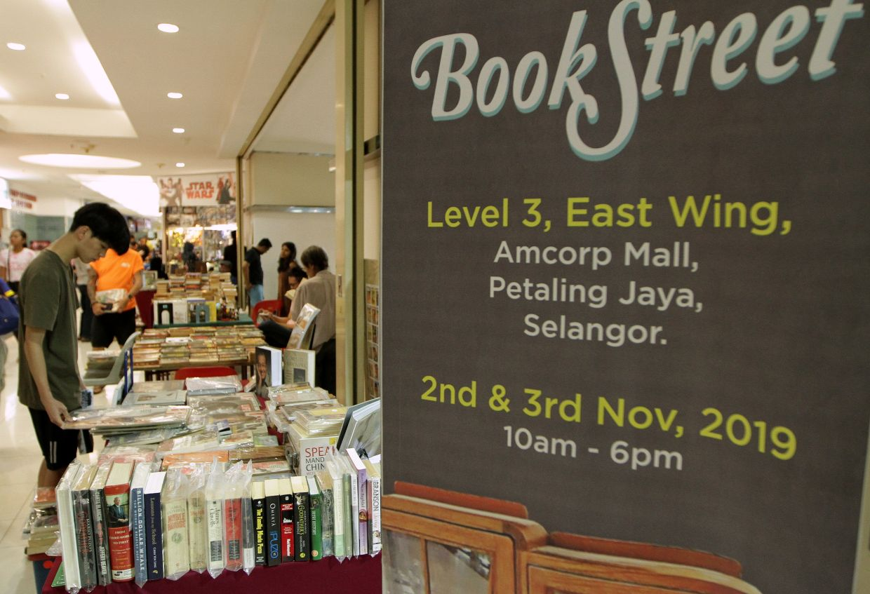 Vintage book markets and events such as the Book Street series in Petaling Jaya have been on hold since the pandemic hit last year. But once the Covid-19 situation improves in the country, you can look forward to see them making an on-site return. Photo: Filepic