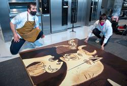 'Guernica': The world's most famous anti-war painting recreated with chocolate