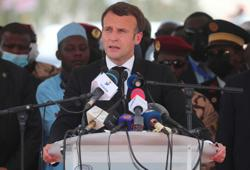 In tribute to friend Deby, Macron says France will not tolerate threats to Chad