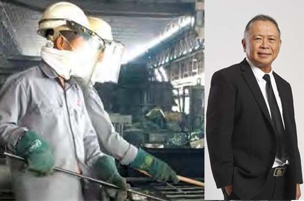 """""""We remain steadfast in increasing our daily tin ore production at the RHT tin mine in Klian Intan, Perak,\"""" says Patrick Yong, group CEO and executive director. (pic right). (On left is pic showing tin smelting.)"""