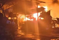 Firemen take nine hours to put out recycling factory blaze
