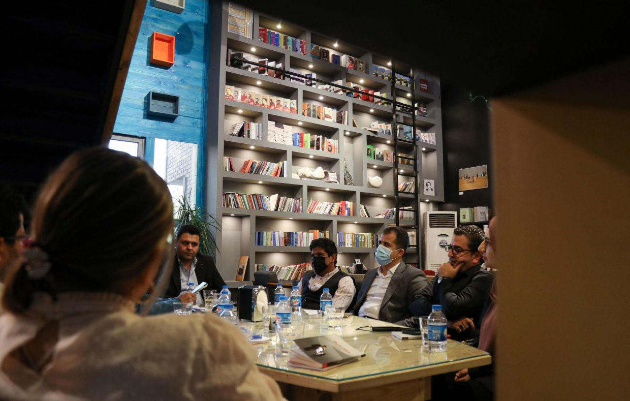 Novelist Goran Sabah led the way by launching his book club in January in a cafe in Arbil. Photo: AFP