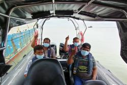 Safe and sound: 10 Indonesian crewmen saved after barter trade boats sink in bad weather near Pontian