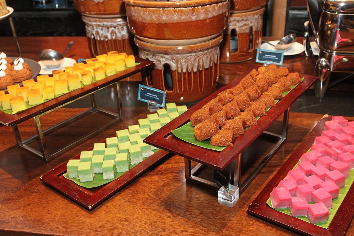 Traditional kuih offer a pretty picture of colours on the Ramadan buffet.