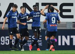 Soccer-Atalanta put five past 10-man Bologna to go second in Serie A