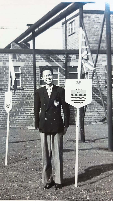 A young Khoo Poh Kong during his training at MTTC in Kirkby, England. — LOKA SK NG