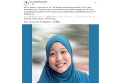 Malaysian PhD student awarded international scholarship for blood disorder research