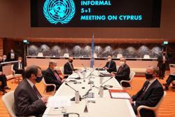 Turkish Cypriots offer two-state plan at U.N. talks, dismissed by Greek Cypriots