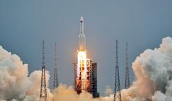 China launches first section of massive space station