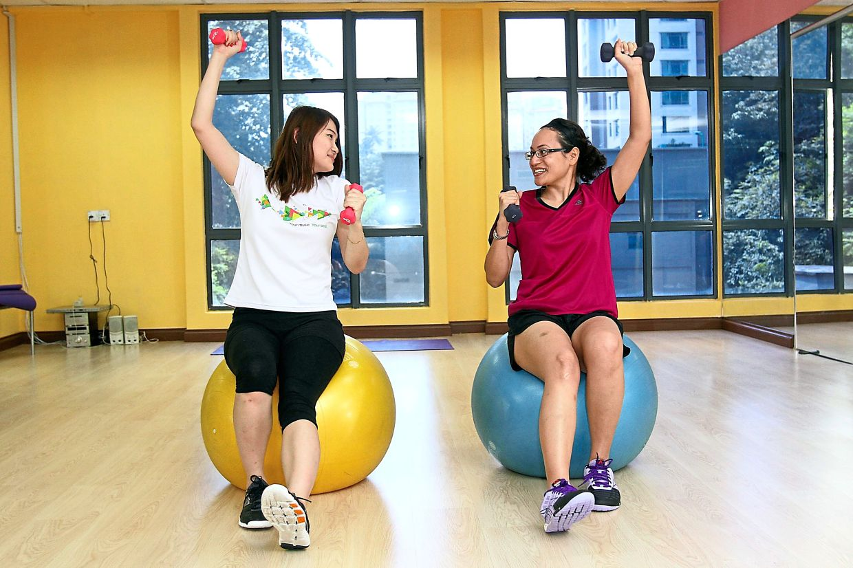 Working out in pairs allows you to encourage each other to keep going.