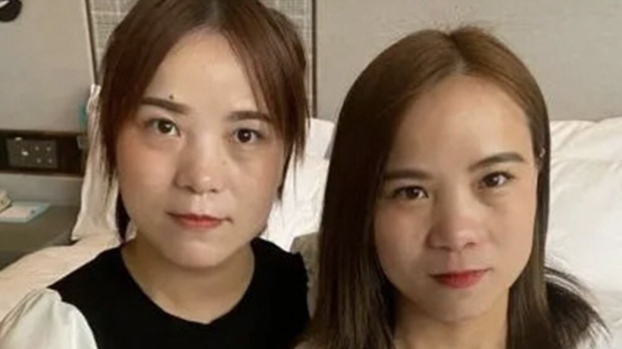 Two identical women in China who met on social media platform Douyin shocked to find they are twins separated at birth