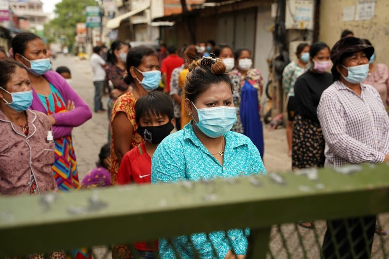 Cambodians complain of lockdown hunger as outbreak takes toll on poor