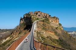 Civita town in Italy makes a living out of dying