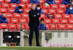 Soccer-Barca's Koeman banned for Atletico and Valencia games, club to appeal