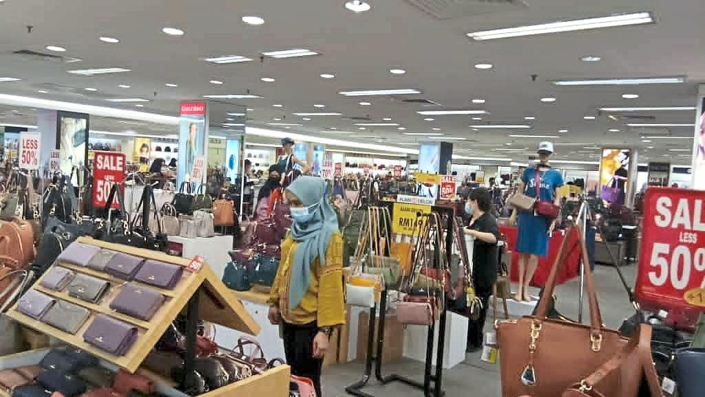 Shoppers will be spoilt for choice with the attractive discounts at the women's section.
