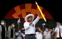 Peru presidential front-runner Castillo returns to campaign trail after health blip