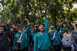Workers protest Indonesia's labour law in May Day rallies; Covid-19 total now stands at 1,672,880