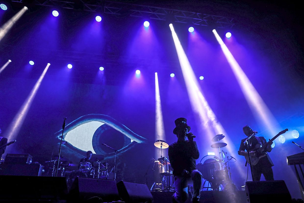 The band Love of Lesbian performing at Sant Jordi stadium in Barcelona in March. — Bloomberg