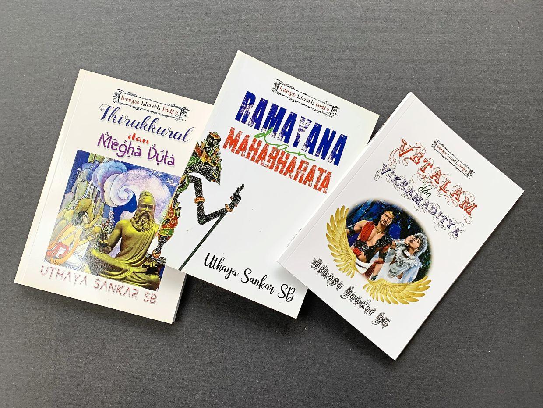 A sample of Uthaya's published works in Bahasa Malaysia. Photo: Uthaya Sankar SB