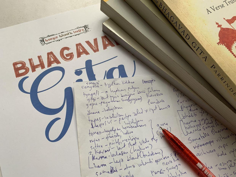 Uthaya's latest project is the retelling - not a translation, he emphasises - of the 'Bhagavad Gita'. Photo: Uthaya Sankar SB