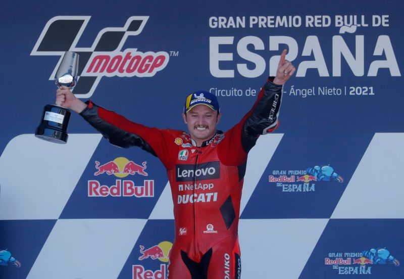Motorcycling-Miller cruises to Spanish GP win in Ducati one-two