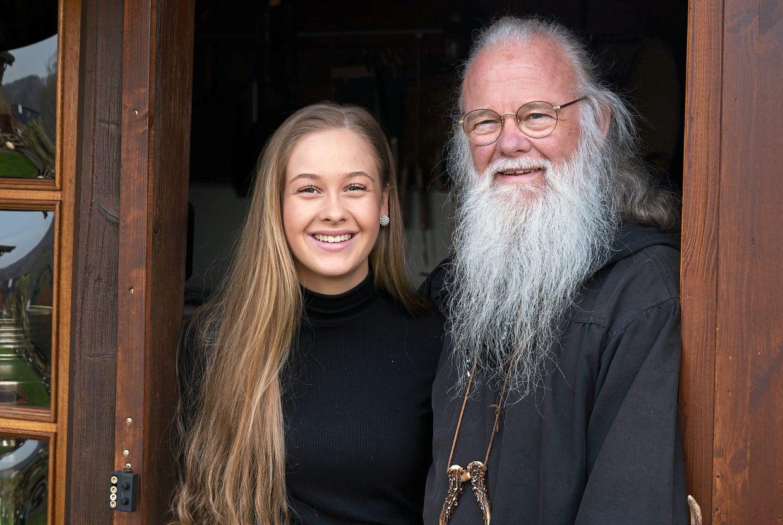 The Druid with his granddaughter Zoe-Priscilla Hannemann.