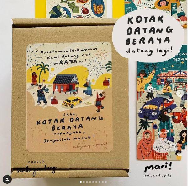 Projek SembangSembang's festive boxes of family fun.