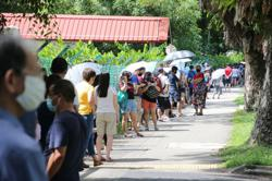 Long lines form as Singapore offers free Covid-19 testing in wake of hospital cluster