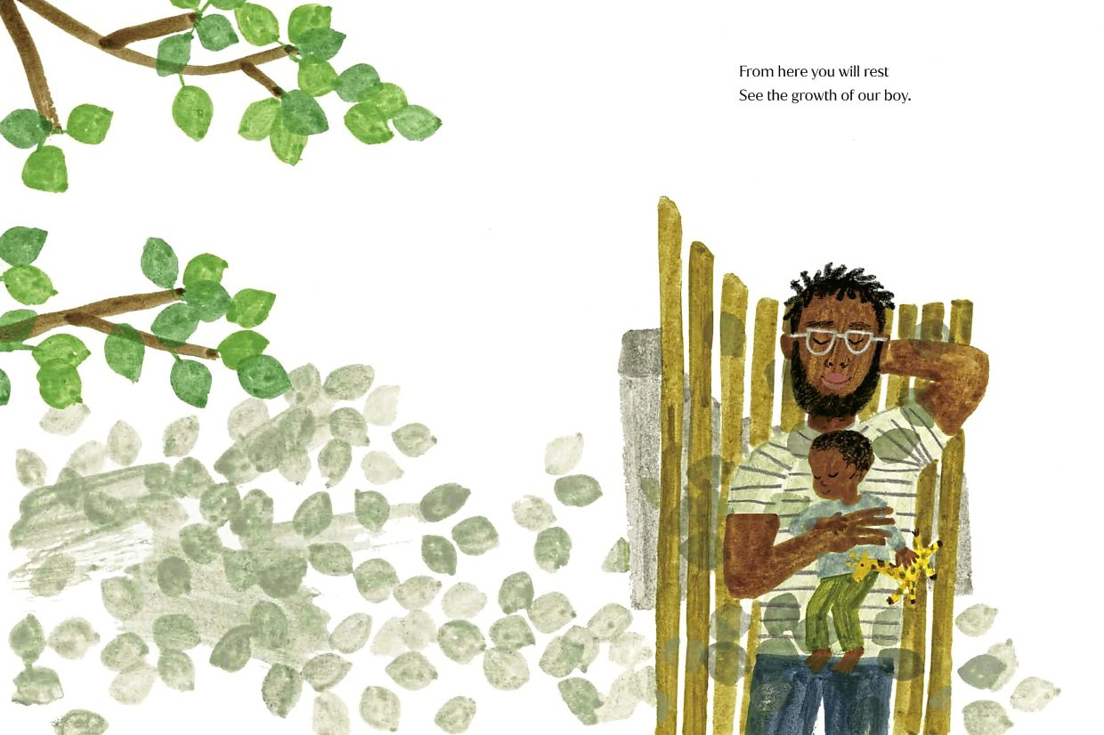 An interior spread from 'The Bench', the debut children's book written by Meghan, the Duchess of Sussex, with illustrations by artist Christian Robinson. Photo: AP