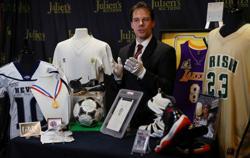 LeBron James 'Chosen One' jersey, Maradona boots head to auction