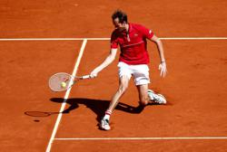 Tennis-Medvedev tames claycourt demons to advance in Madrid
