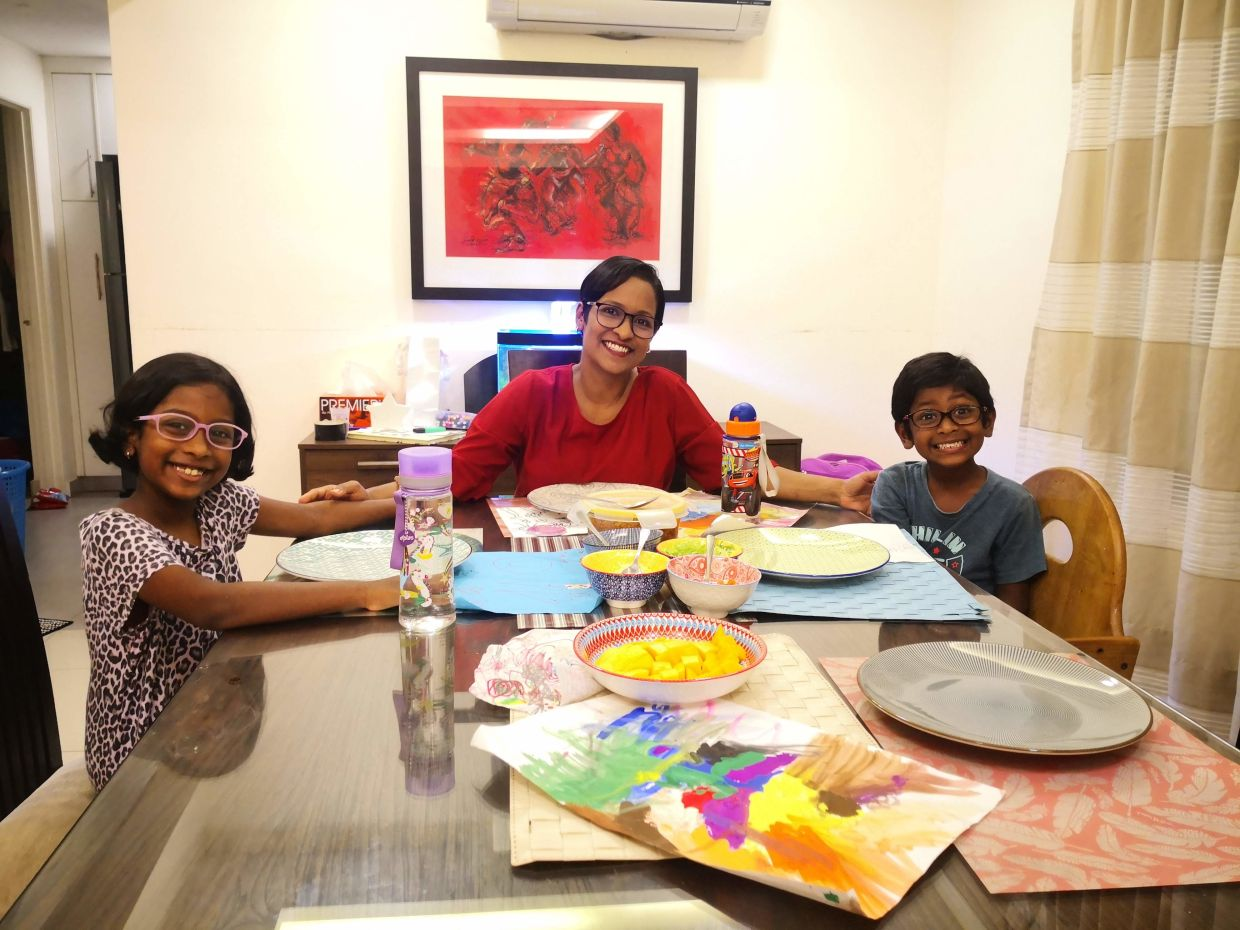 Every year, Ashvini and her family will have a simple but meaningful celebration on Mothers Day. Photo: Siva Manalan Nadeson