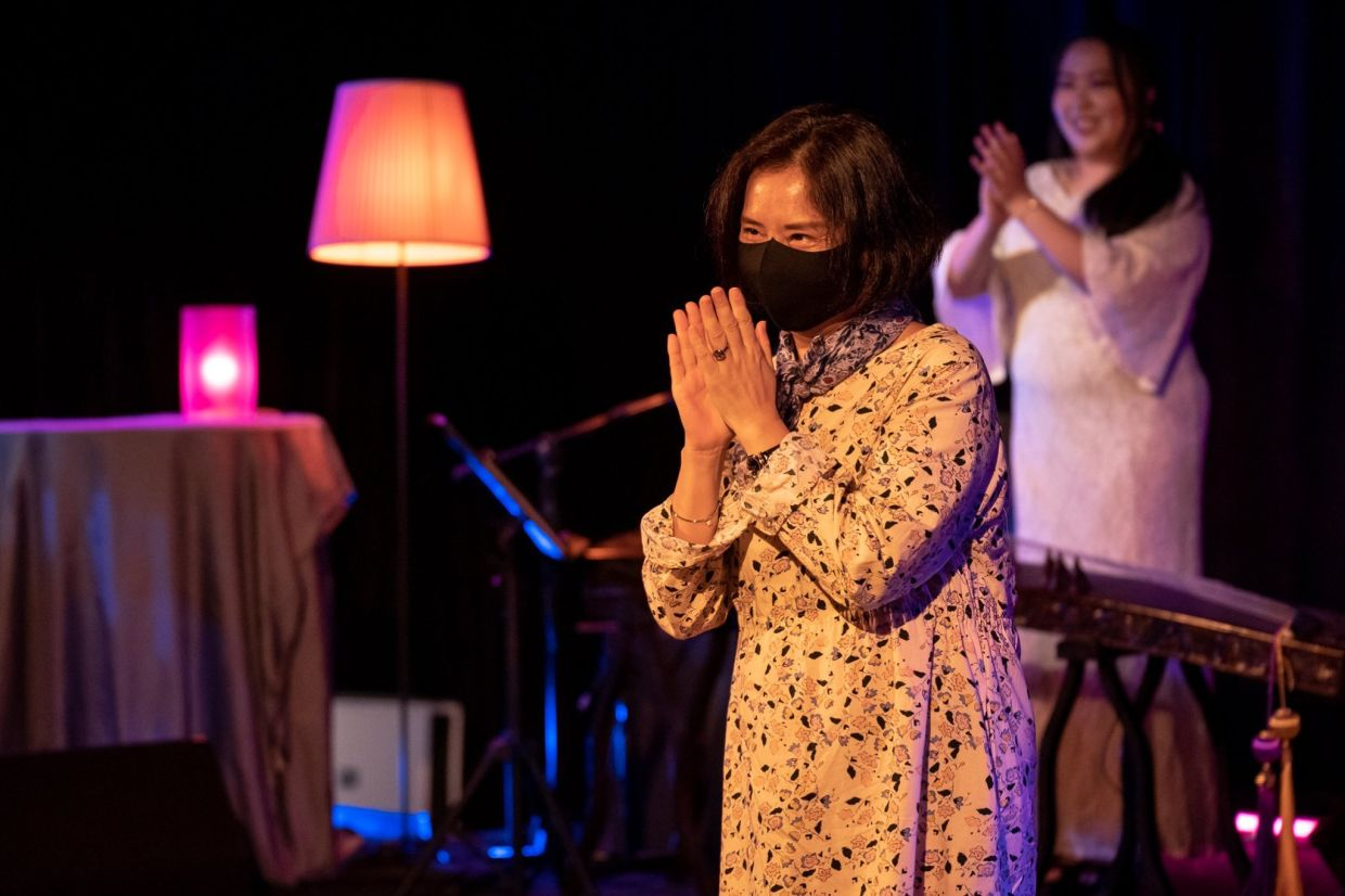 A scene from KLPac's show 'Inner Thoughts', which combines poetry, song and music. The show will play for only one night before KL enters the MCO phase on May 7. The rest of its dates will be postponed. Photo: KLPac