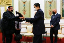 Venezuela's Maduro receives samurai sword gift from actor Steven Seagal