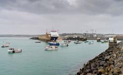 French flotilla stages protest at Jersey port in fishing row