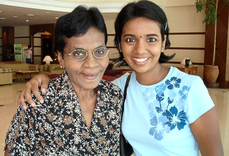 Dr Shamala (right) and her late mother, Paramesvary. Photo: Shamala Durairajanayagam