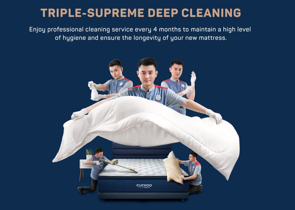 Keep your mattress clean and safe with the worry-free service from the CUCKOO+ Service Team